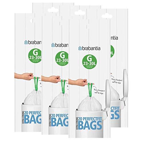Brabantia Smartfix Slimline - Bolsas de basura (23 - 30 L) 6 Pack