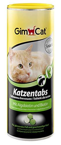 GimCat Katzentabs Algobiotin und Biotin - Köstlicher Katzensnack für glänzendes Fell und geschmeidige Haut - 1 Dose (1 x 425 g)