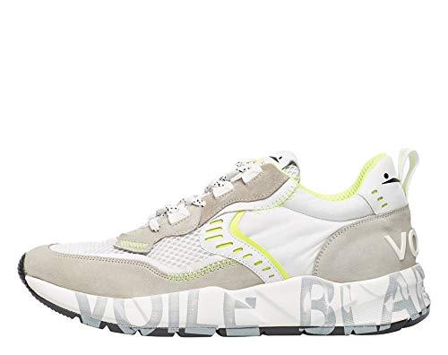VOILE BLANCHE CLUB01-Sneaker in Suede e Tessuto Tecnico Bianco 43