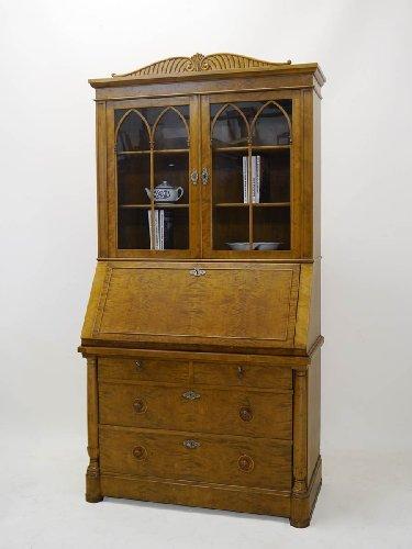 Sekretär Aufsatzsekretär Schreibmöbel im Antik Stil um 1950 B: 109 cm (3018)