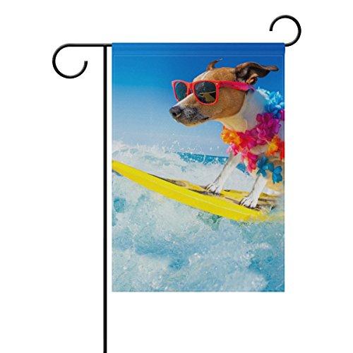 My Daily Surfen Jack Russell Hund Deko Doppelseitig Garden Flagge 12x 18& 71,1x 101,6cm 12 x 18 inch Multi