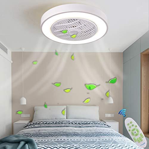 Fan Deckenleuchte LED Deckenventilator Mit Beleuchtung Dimmbar Mit Fernbedienung 60W Deckenlampe Einstellbare Windgeschwindigkeit Moderne Kreative Ultra-Leise Wohnzimmer Schlafzimmer Fan Lampe,Weiß