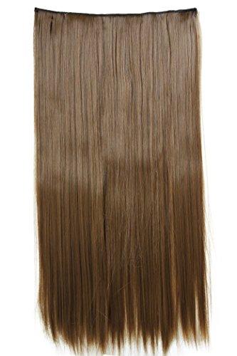 PRETTYSHOP XXL 60cm Clip-In-Extensions Tupé Alargamiento del cabello Aumento del cabello Postizo resistente al calor C57