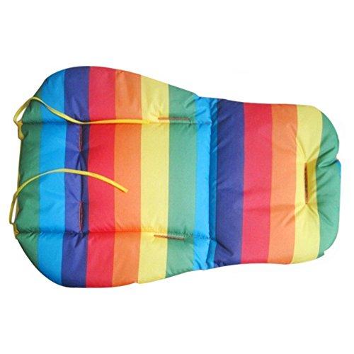 Gemini _ Mall® Poussette Buggy Poussette Landau Siège auto Liner Tapis de coussin – Coton – étanche – Rainbow Style