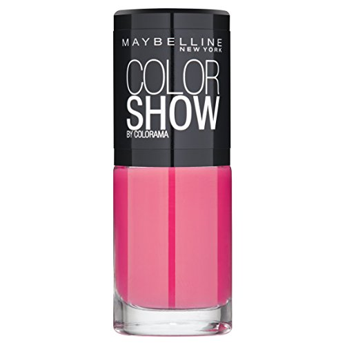 Maybelline New York Make-Up Nailpolish Color Show Nagellak/Ultra glanzende verflak in zacht bruin, 1 x 7 ml roze (Vivid Rose)