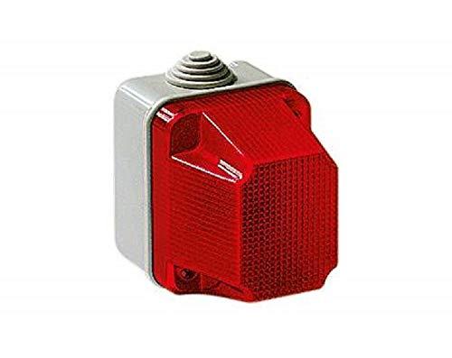 elettrocanali Spia di Segnalazione Luminosa Stagna Ip55 230v Rosso Verde Ec320r/v, Rosso