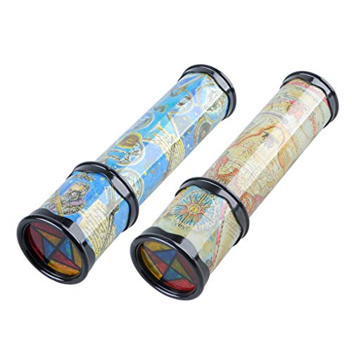 nobrand Skalierbare Rotation Kaleidoskop Magie Changeful Adjustable Farbene Magie Kaleidoskop Phantoscope Kinder Spielzeug,type1,30x5x4.3cm