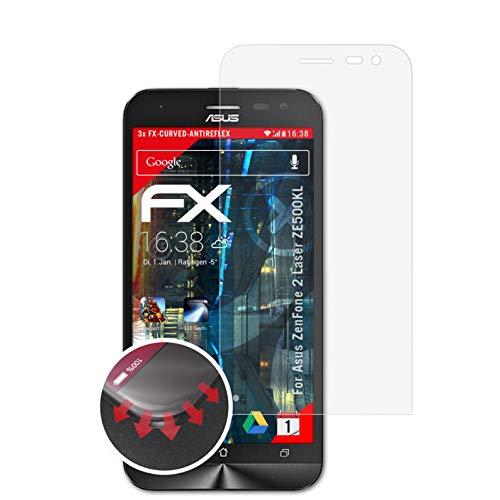 atFolix Schutzfolie passend für Asus ZenFone 2 Laser ZE500KL Folie, entspiegelnde & Flexible FX Bildschirmschutzfolie (3X)
