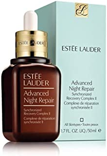 Estee Lauder Advanced Night Repair Serum Synchronized Recovery Complex II Provides Intense Moisture to Keep Skin Hydrated, Reveal a Smoother, More Luminous, Younger Look, Neutralizes Harmful Effect 50ml