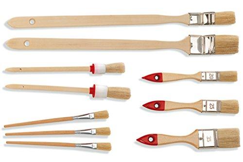 2 x Heimwerker Malerpinsel Set 10 teilig Eckenpinsel Flachpinsel Emaillepinsel Ringpinsel