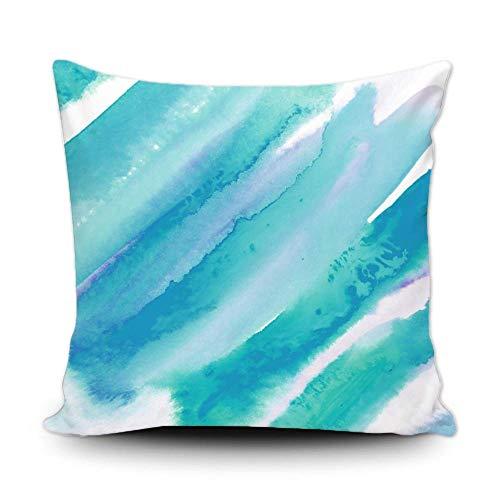 Funda de almohada elegante verde turquesa azul turquesa decoración del hogar funda de cojín cuadrada 50,8 x 50,8 cm para sofá, dormitorio