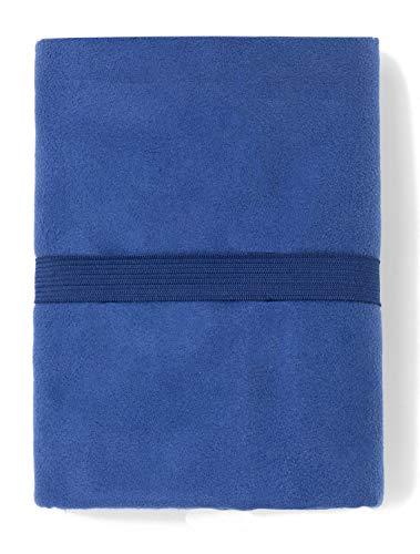 TEX - Toalla de Playa Microfibra, Secado Rápido, Ultraligera, 80x130 cm, Azul Marino