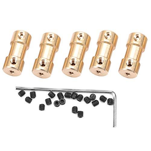 Taidda Wellenkupplung, Wellenübertragungsgelenk-Adapterkupplung 5er Motor Kupfer Wellenübertragungsgelenk-Adapterkupplungs-Verbindungshülsen(3#)