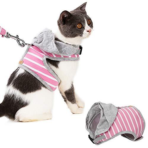Ghaike Cinturón de seguridad y correa, chaleco ajustable y cómodo para gatitos y cachorros, fácil de controlar y llevar, adecuado para caminar al aire libre
