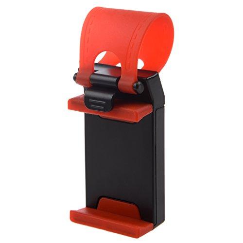 Popcornon Negro y Rojo sostenedor de telefono de Pendiente de Volante