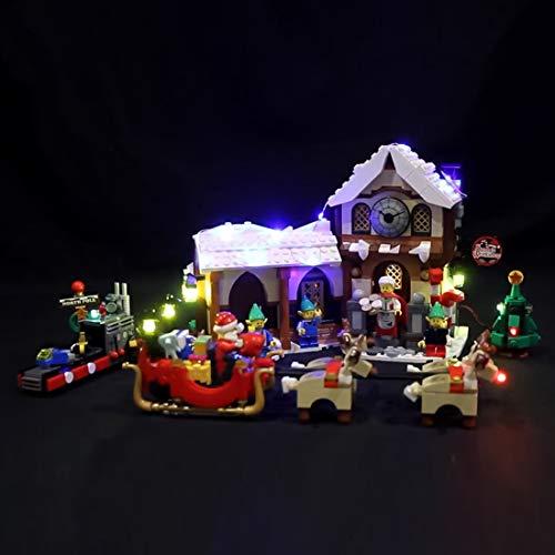 POXL Set di Luci per La Bottega di Babbo Natale, Kit di Illuminazione LED Luce LED Light Compatibile con Lego 10245 - Non includere Il Set Lego