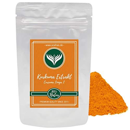 Azafran Kurkuma Extrakt hochdosiert Curcuma Longa L bzw 95% Curcumin Pulver 100g