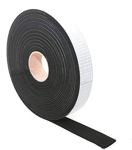 EPDM Zellkautschuk Dichtungsband einseitig, selbstklebend Moosgummi - 5m je Rolle- Breite 5mm x Dicke 2mm (5x2) Premium-Qualität mit Geld-zurück-Garantie