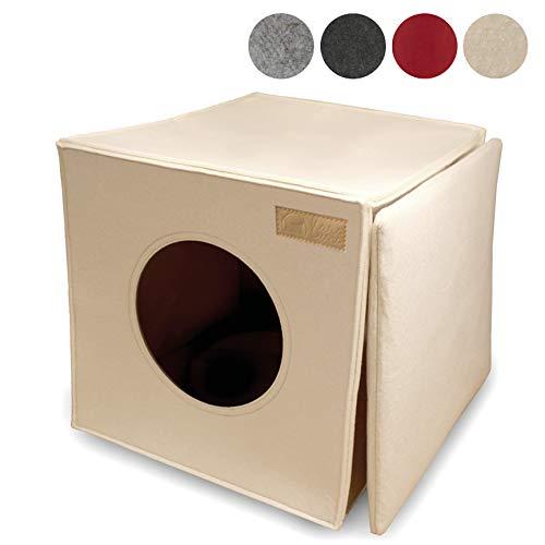 KaraLuna Cat Bed Geschikt voor bijv. IKEA® Kallax en Expedit Shelves I Cozy & Cuddly I Drie kleuren beschikbaar