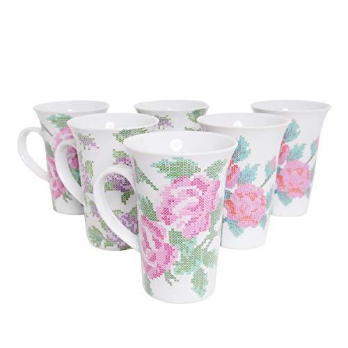 Kaffeetassen 6 Stück Coffee Mäser Domestic Porzellan Kaffeepot Kaffeebecher extra groß 35cl
