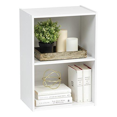 IRIS USA 2-Tier Wood Storage Shelf White 596166