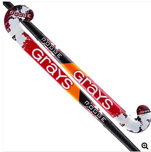 Grays Rogue Stick Hockey sobre Hierba, Adultos Unisex, Negro/Rojo, 34