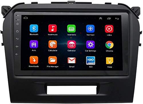AEBDF Navegación GPS de Android para Suzuki Vitara 2015-2019,9.0 Pulgadas Coche Estéreo Radio Media Player Sat Nav Bluetooth Volante Control,4Core WiFi+4G 2+32G