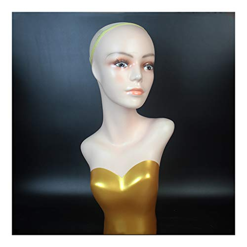 Cabeza de maniquí El moho peluca modelo de la cabeza Virgen de la Cabeza de la peluca del sombrero de la bufanda centro comercial Display peluca Modelo de la cabeza Puntales con rasgos faciale