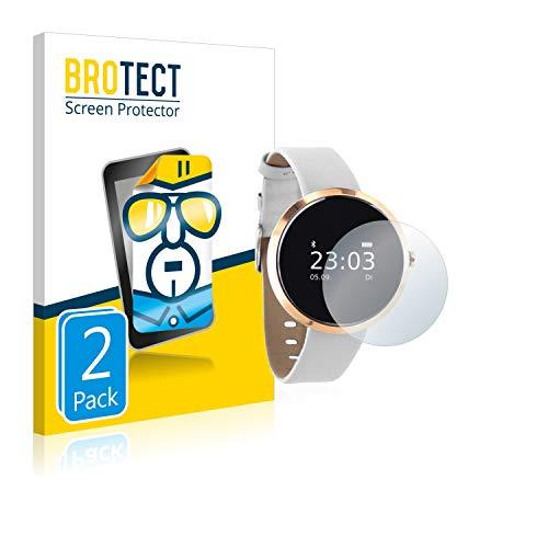 BROTECT Schutzfolie kompatibel mit Xlyne X-Watch Siona (2 Stück) klare Displayschutz-Folie