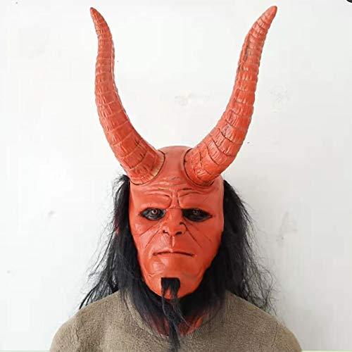 Story of life Horror Máscara De Halloween Infierno Baron Destruidos Guantes De La Mano del Terrorismo Fiesta De Carnaval Látex Sombrero del Diablo Rojo Hellboy