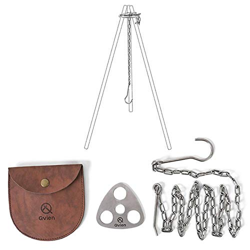 GOLDACE Camping Gear and Equipment - Campfire Cooking Accessories Set - Radiate Portable Cookware - Dutch Oven Camping Cookware - Outdoor Camp Tripod Cooking