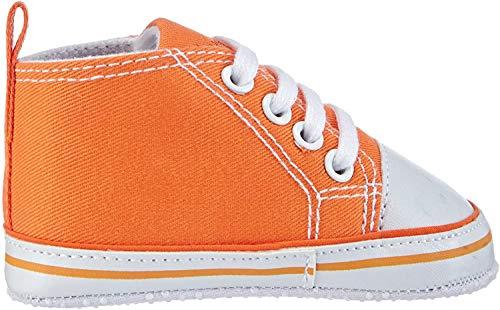 Playshoes Primeros Zapatos, Zapatillas Casual Unisex bebé, Naranja (Orange 39), 17 EU
