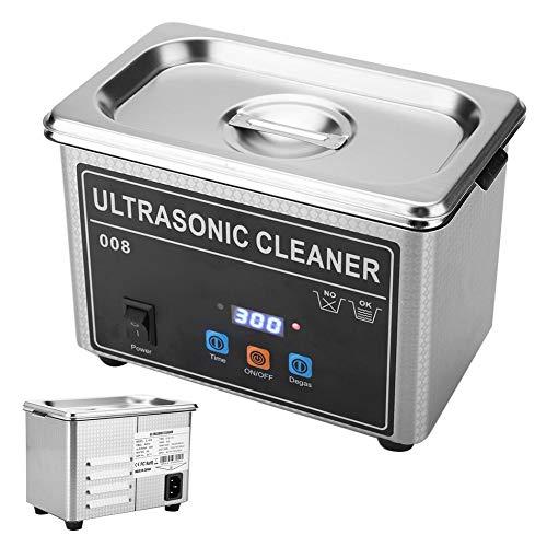 Qiterr 【𝐏𝐚𝐬𝐜𝐮𝐚𝐏𝐫𝐨𝐦𝐨𝐜𝐢ó𝐧】 Limpiador ultrasónico de joyería, CJ-008 Máquina de Limpieza ultrasónica para joyería Reloj Gafas...
