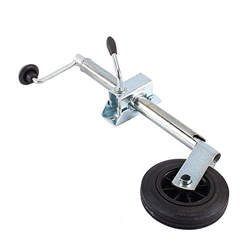 Trailer Guide Wheel, Heavy Duty Stainless Steel 35 mm Shaft Jockey Wheel with a Clamp for Caravans and Trailers fits Most Couplings, Weight Capacity 881.8 lbs