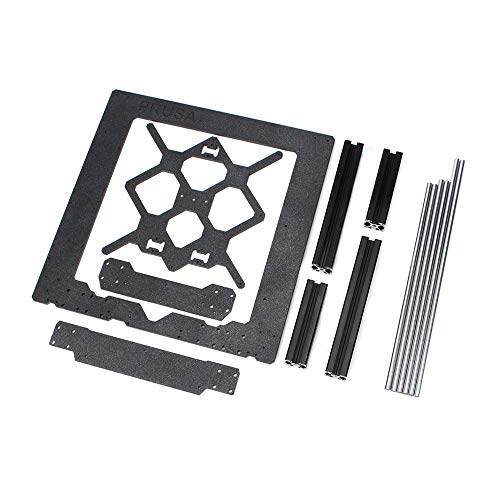 Shumo Clone for Prusa I3 Mk3 3D Printer Parts Aluminum Frame Aluminum Black Profile and Smooth Rods Kit