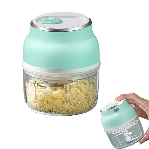 Yanding Mini picador eléctrico de ajo,con carga USB,Fácil de limpiar bajo ruido,Triturador de ajo de mano herramientas de cocina cortador de alimentos, 150 ml