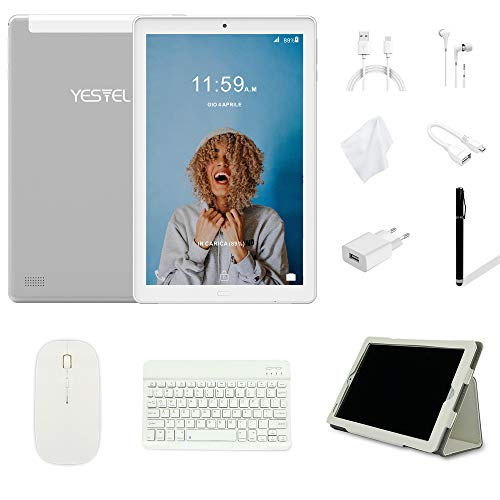Tablet 10 Pulgadas YESTEL Android 8.0 Tablets con 3GB RAM & 32GB ROM y 4G LTE...