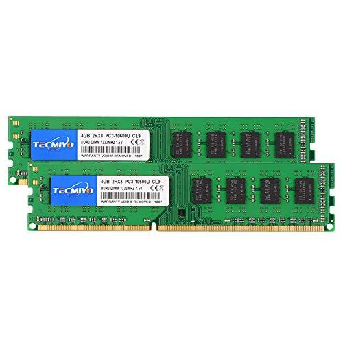 テクミヨ デスクトップPC用メモリ 1.5V DDR3 1333MHz PC3-10600 8GB (4GB×2枚) 240 Pin UDIMM CL9 Non-ECC DIMM
