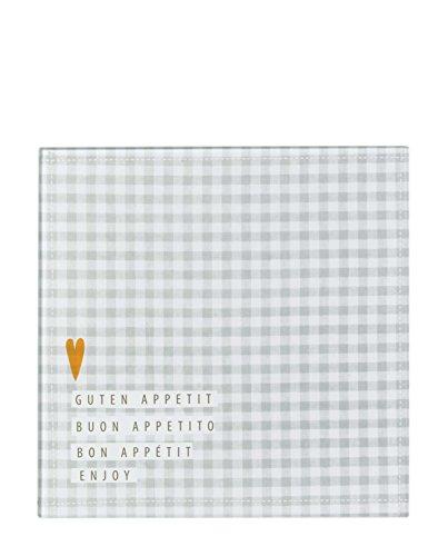 Räder PET kleine Glasplatte Guten Appetit 21,5 x 21,5 cm