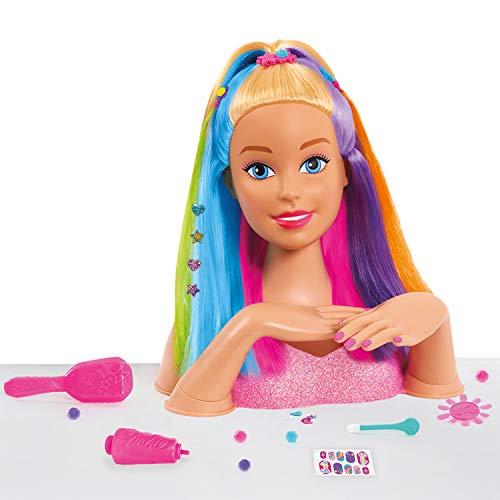 Giochi Preziosi Barbie-Rainbow Busto Deluxe, Multicolor (4)