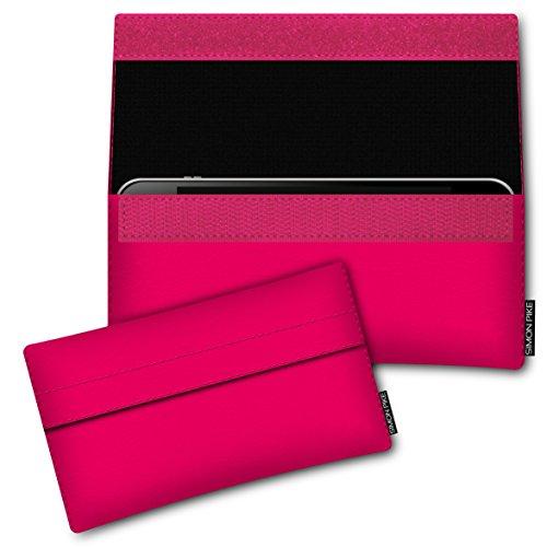 SIMON PIKE Hülle Tasche kompatibel mit Samsung Galaxy S8 Active | Schutztasche Newyork in 01 neonpink aus Kunstleder Handyhülle