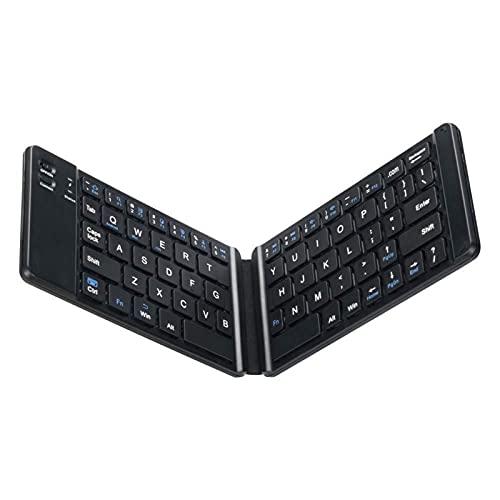 LKJHGFD RUNSHIBAIHUODIAN Inglés B033 Mini Teclado Plegable, Teclado inalámbrico Bluetooth con touchpad...