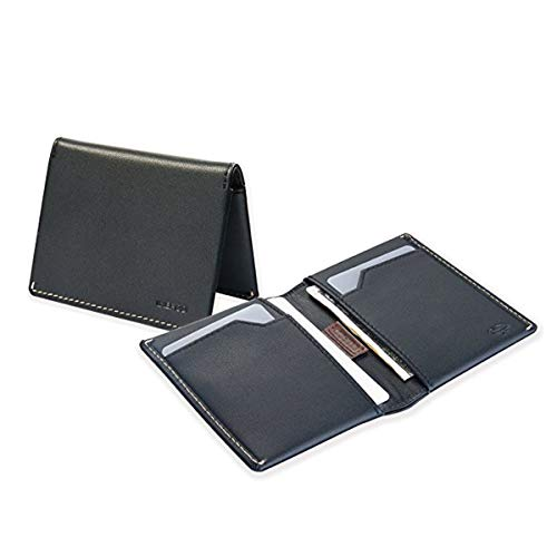 IKEPOD Slim Carry Men Bifold Wallet 8 Color Italy Leather RFID Front Pocket Billfold with ID Window
