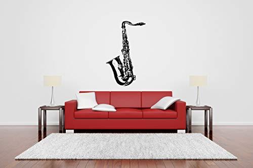 Vinyl Sticker Saxophone Musical Instrument Musician Abstract Poster Music Tuba Jazz Player Silhouette Mural Decal Wall Art Decor SA3380