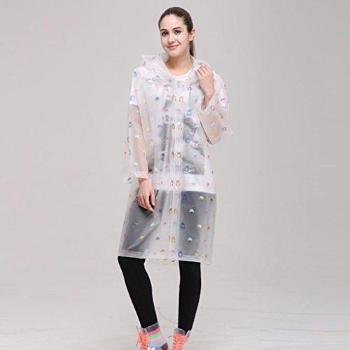 QFF Mode Translucent regenjas milieuvriendelijk geen geur mannen en vrouwen lange sectie Outdoor Paar modellen Adult Poncho