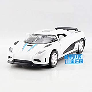 GreenSun 1:32 Scale/Koenigsegg Agera R Car/Pull Back/Sound & Light/Educational Collection/Gift for Kid