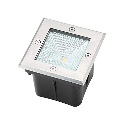 Ryan LED-inbouwspot voor buiten, vloerverlichting, vierkant, verlichting voor buiten, IP67 voor gazon, waterdicht