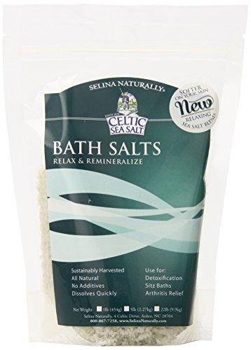 Celtic Sea Salt, Whole Crystal Bath Salt, 1 Pound Resealable Bag, PACK OF 6
