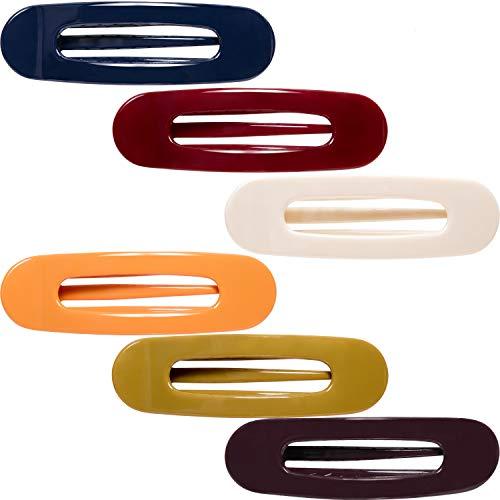 RC ROCHE 6 Stück Ovale Haarspange für Damen Haarklammer Libellenspange Starker Halt Mädchen, Medium Klassisch Multifarben