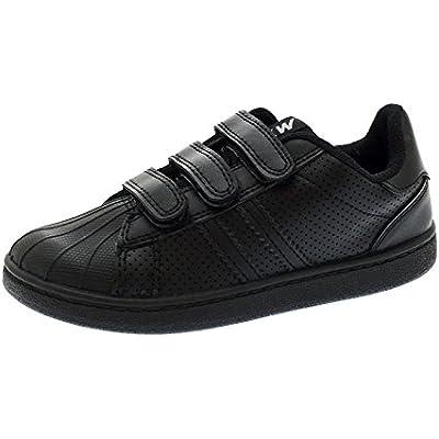 black velcro pumps